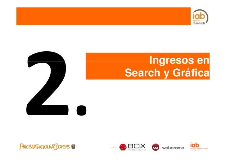Ingresos en          Search y Gráfica     - 14 -