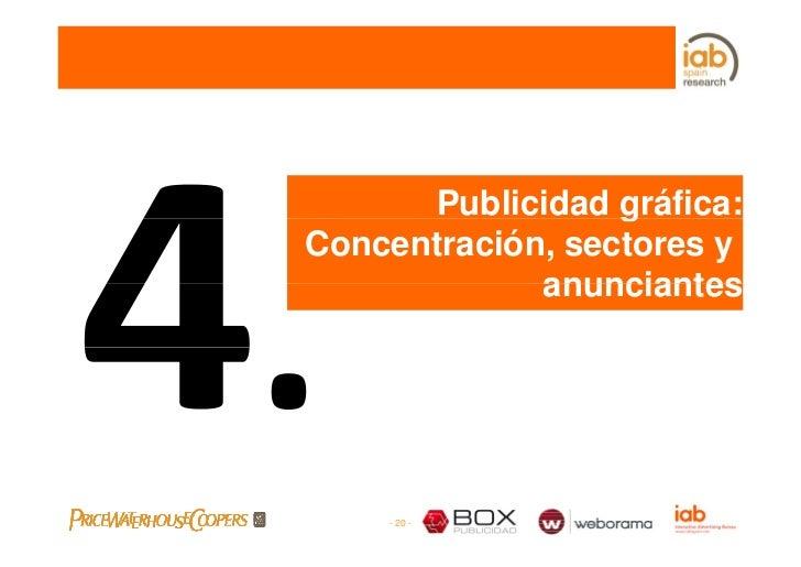 Publicidad gráfica:                   g Concentración, sectores y              anunciantes         - 20 -