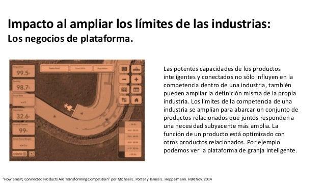 Impacto al ampliar los límites de las industrias: Los negocios de plataforma. Las potentes capacidades de los productos in...