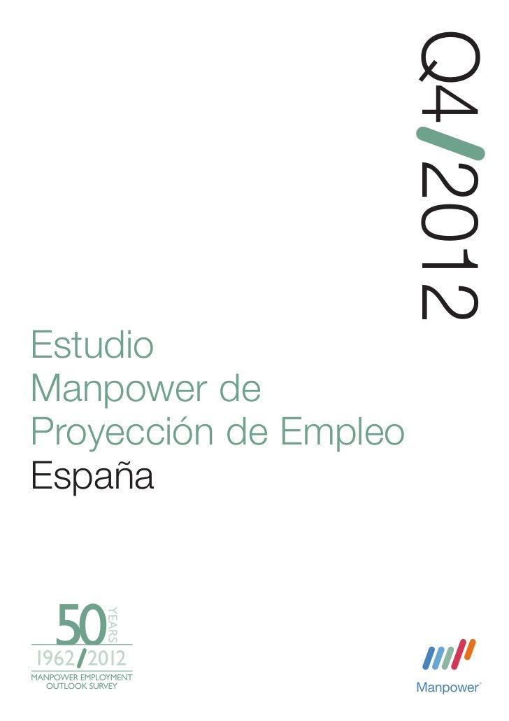 Q4 2012EstudioManpower deProyección de EmpleoEspaña