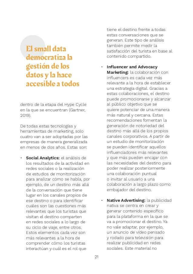 TECNOLOGÍA GESTIÓN/ COORDINACIÓNAPTITUDES MARKETING DE DESTINO 23 La transformación digital en la gestión del marketing de...