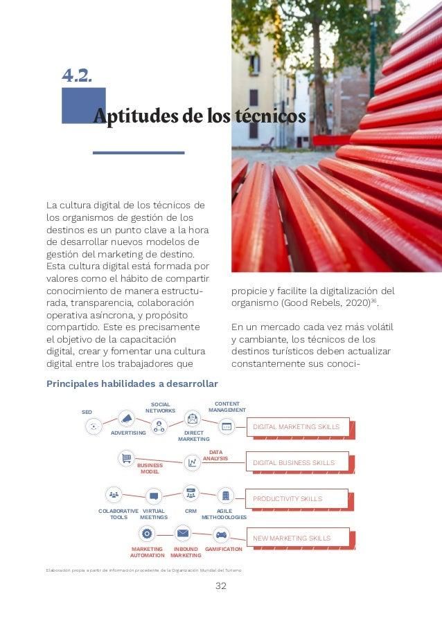 34 Definir un modelo de destino que les permita desarrollar una estrategia digital integral. Para ello, cada destino tiene...