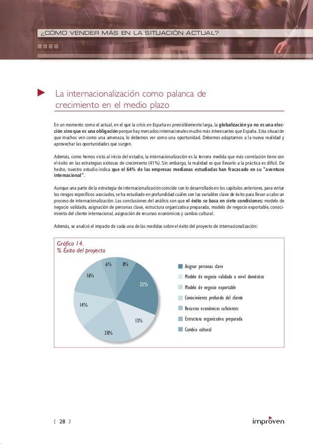 [ 28 ] ¿CÓMO VENDER MÁS EN LA SITUACIÓN ACTUAL? En un momento como el actual, en el que la crisis en España es previsiblem...