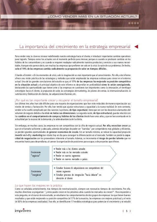 [ 5 ] ¿CÓMO VENDER MÁS EN LA SITUACIÓN ACTUAL? Para vender más, la clave es innovar redefiniendo nuestra estrategia hacia ...