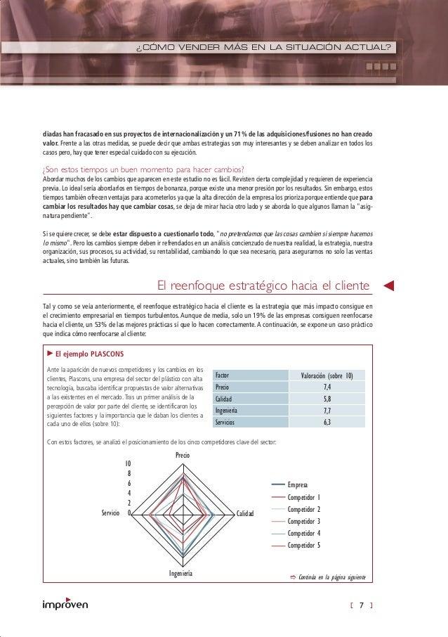 [ 7 ] ¿CÓMO VENDER MÁS EN LA SITUACIÓN ACTUAL? diadas han fracasado en sus proyectos de internacionalización y un 71% de l...