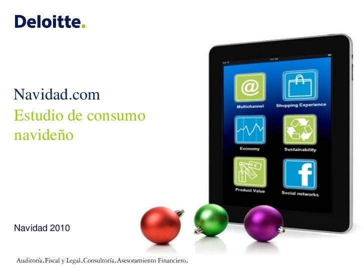 Navidad.com Estudio de consumo navideño     Navidad 2010
