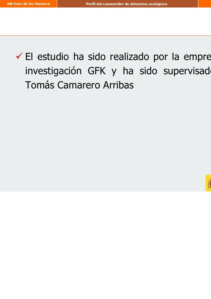 Estudio perfil consumidor ecologico por Tomas Camarero Arribas Slide 2