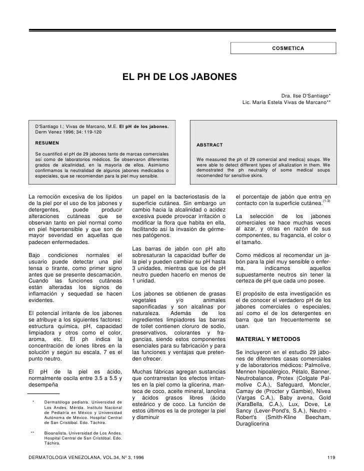 COSMETICA                                                   EL PH DE LOS JABONES                                          ...