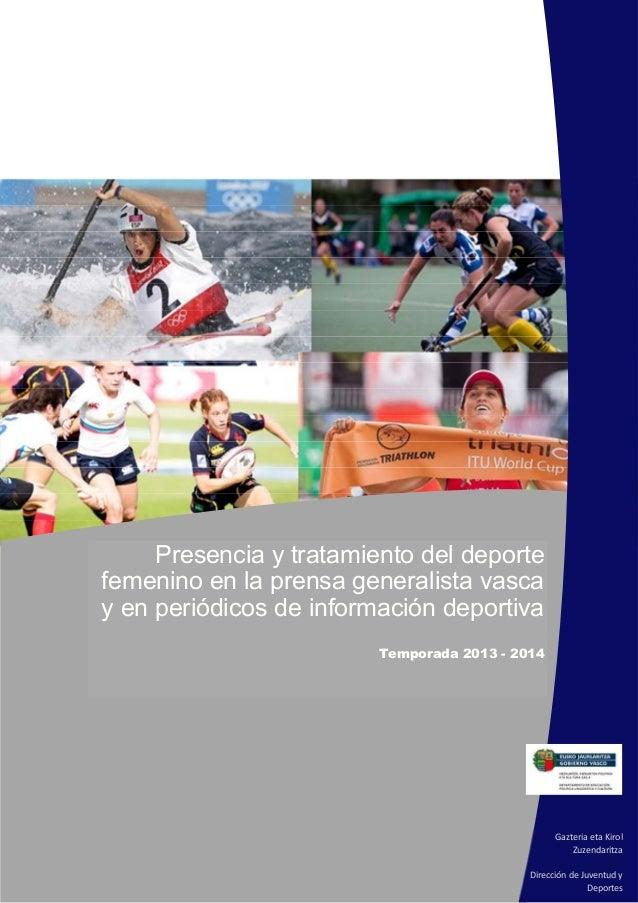 Presencia y tratamiento del deporte femenino en la prensa generalista vasca y en periódicos de información deportiva Tempo...