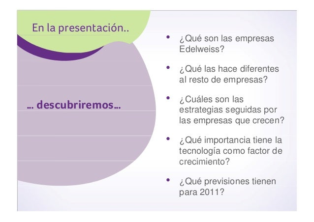 "Estudio ""Radiografía Empresas Edelweiss 2010"" Slide 2"