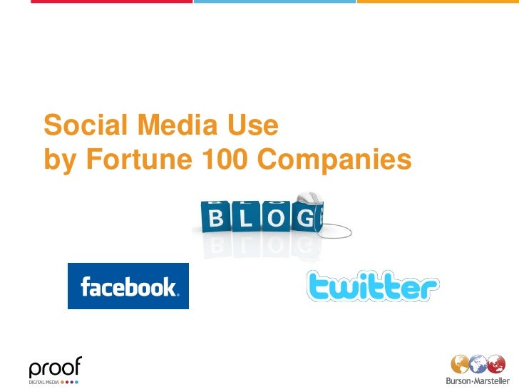 Social Media Use by Fortune 100 Companies
