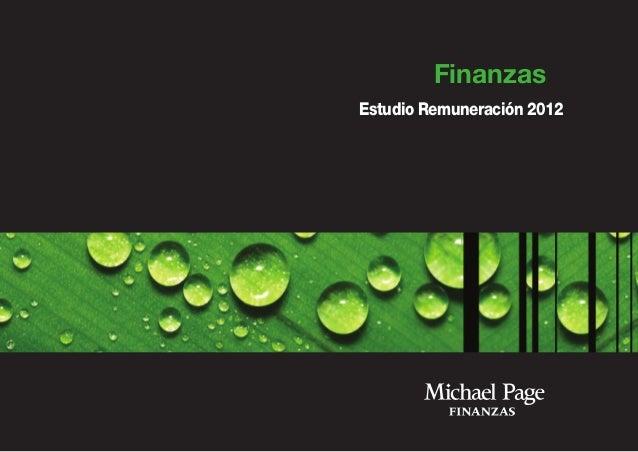 Finanzas Estudio Remuneración 2012