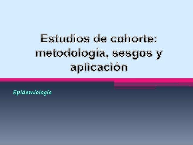 Introducción • Son estudios epidemiológicos observacionales en los que una población es seleccionada y clasificada en dos ...