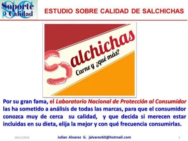 Estudio sobre calidad de salchichas1
