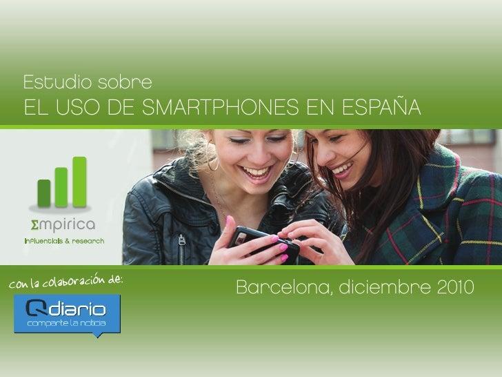 Estudio sobre el uso de smartphones en España