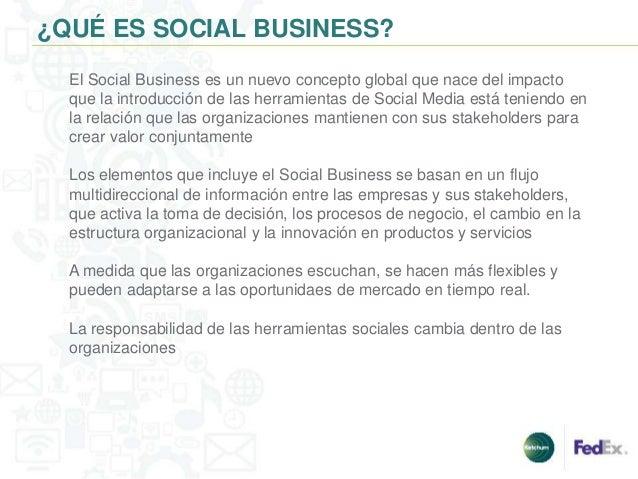 ¿QUÉ ES SOCIAL BUSINESS?  El Social Business es un nuevo concepto global que nace del impacto  que la introducción de las ...