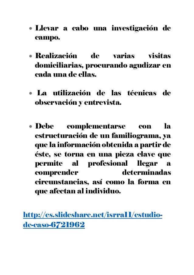 Estudio social trabajo social - Casos practicos trabajo social ...