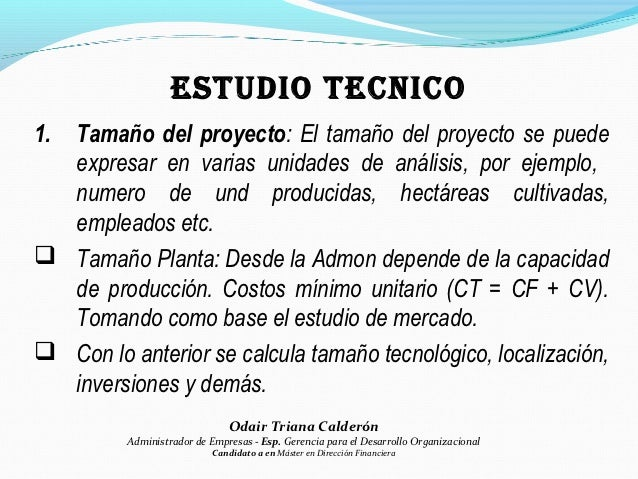 estudio de  mercados  tecnico  administrativo y financiero