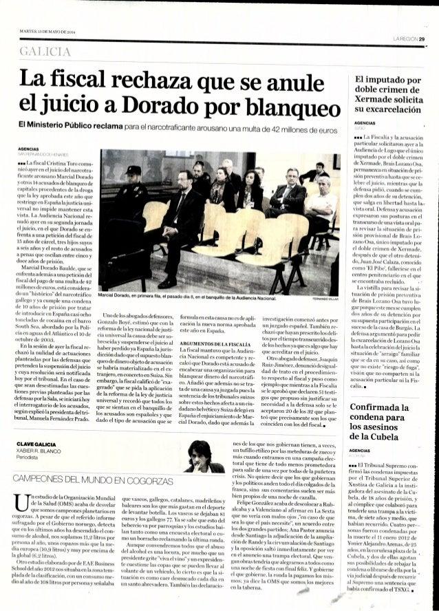 Estudio SRC Consumo de alcohol en España 2012, Artículo en La Región Galicia