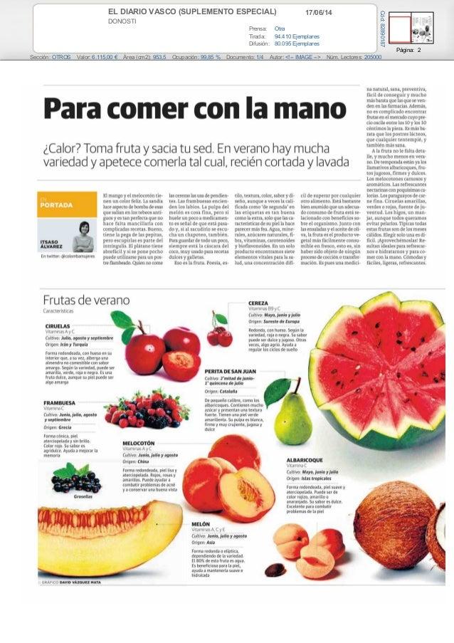17/06/14EL DIARIO VASCO (SUPLEMENTO ESPECIAL) DONOSTI Prensa: Otra Tirada: 94.410 Ejemplares Difusión: 80.095 Ejemplares P...