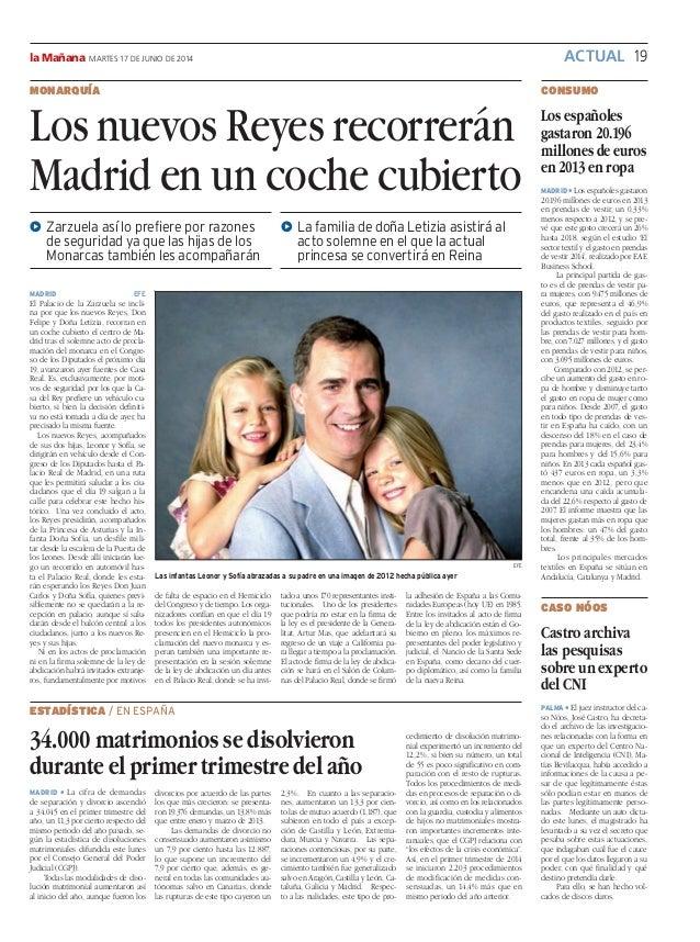 ACTUAL 19la Mañana MARTES 17 DE JUNIO DE 2014 CONSUMO Los españoles gastaron 20.196 millones de euros en 2013 en ropa MADR...
