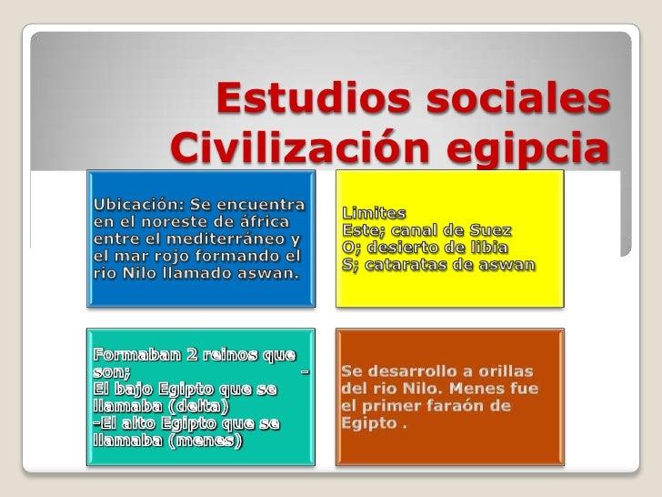 Estudios socialesCivilización egipcia                   .