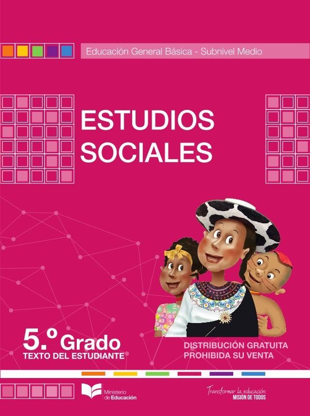 Estudios sociales 5 for La pagina del ministerio