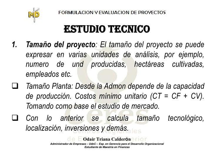 Estudio t cnico y administrativo for Proyecto tecnico ejemplos