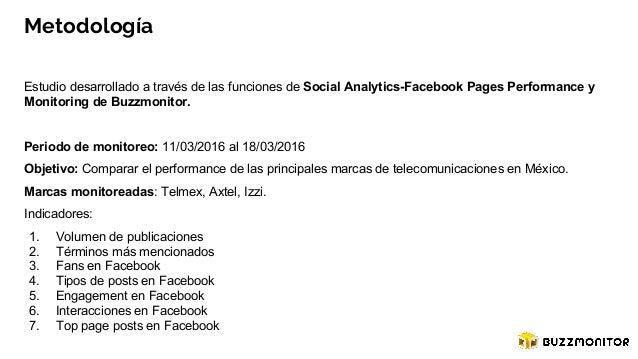 Social media analysis Telcel, Izzi, Axtel Slide 3