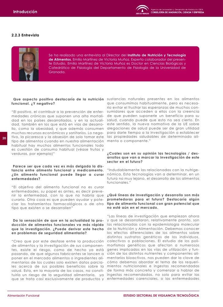 3            Normativa y Legislación del Sector          3.1 Definición de los alimentos funcionales          En la Unión ...