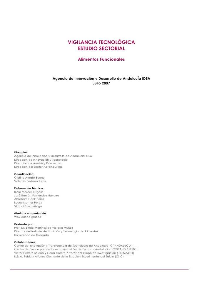 VIGILANCIA TECNOLÓGICA                                           ESTUDIO SECTORIAL                                        ...