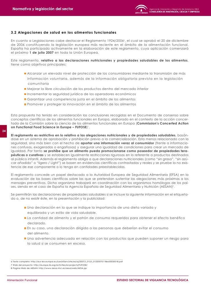 Reglamento (CE) 1924/2006 de 20 de diciembre de 2006 - Declaraciones nutricionales y de                    propiedades sal...