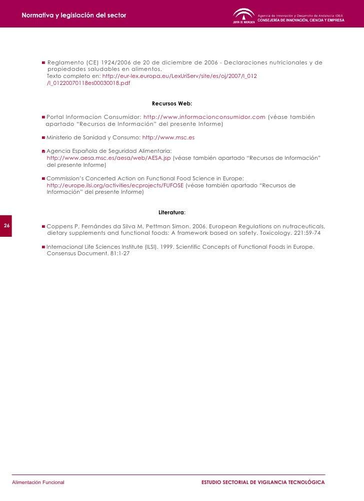 28          Alimentación Funcional   ESTUDIO SECTORIAL DE VIGILANCIA TECNOLÓGICA