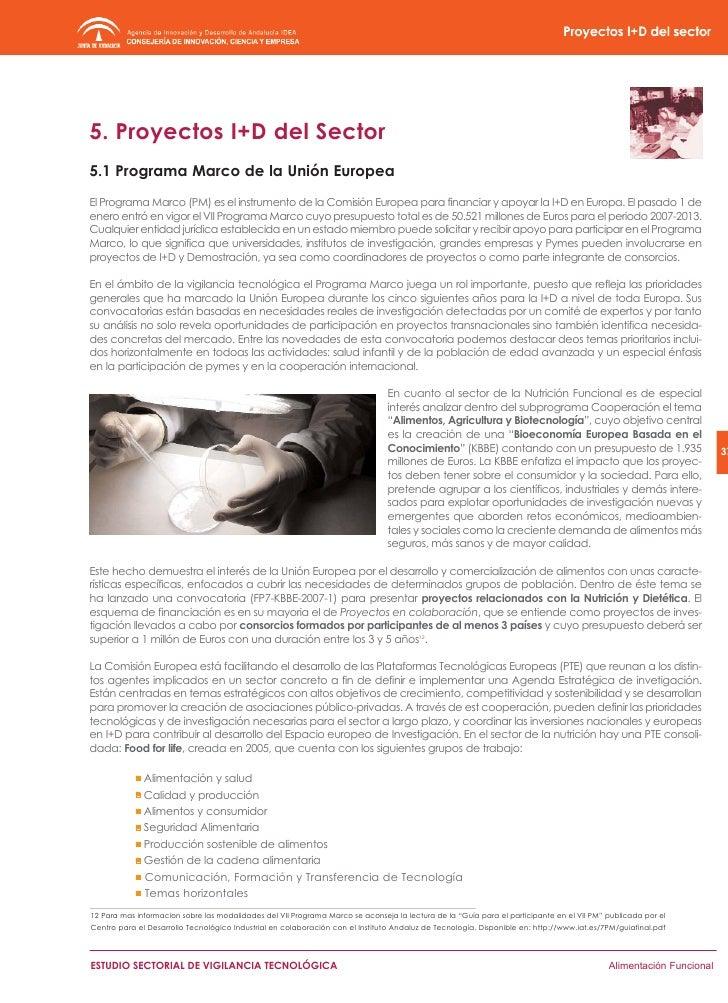 39     ESTUDIO SECTORIAL DE VIGILANCIA TECNOLÓGICA   Alimentación Funcional