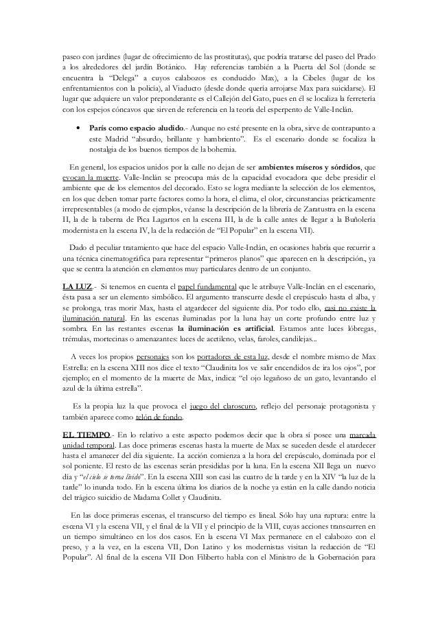 Estudio y an lisis de la obra luces de bohemia valle incl n for Jardin umbrio valle inclan