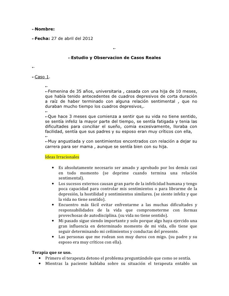 Estudio y observacion de casos reales - Casos de alcoholismo reales ...
