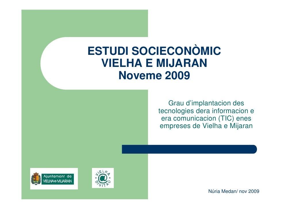 ESTUDI SOCIECONÒMIC   VIELHA E MIJARAN      Noveme 2009               Grau d'implantacion des           tecnologies dera i...