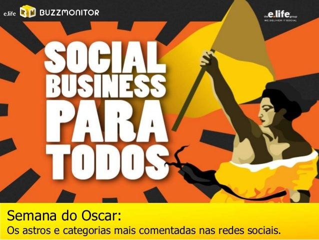 Semana do Oscar:Os astros e categorias mais comentadas nas redes sociais.