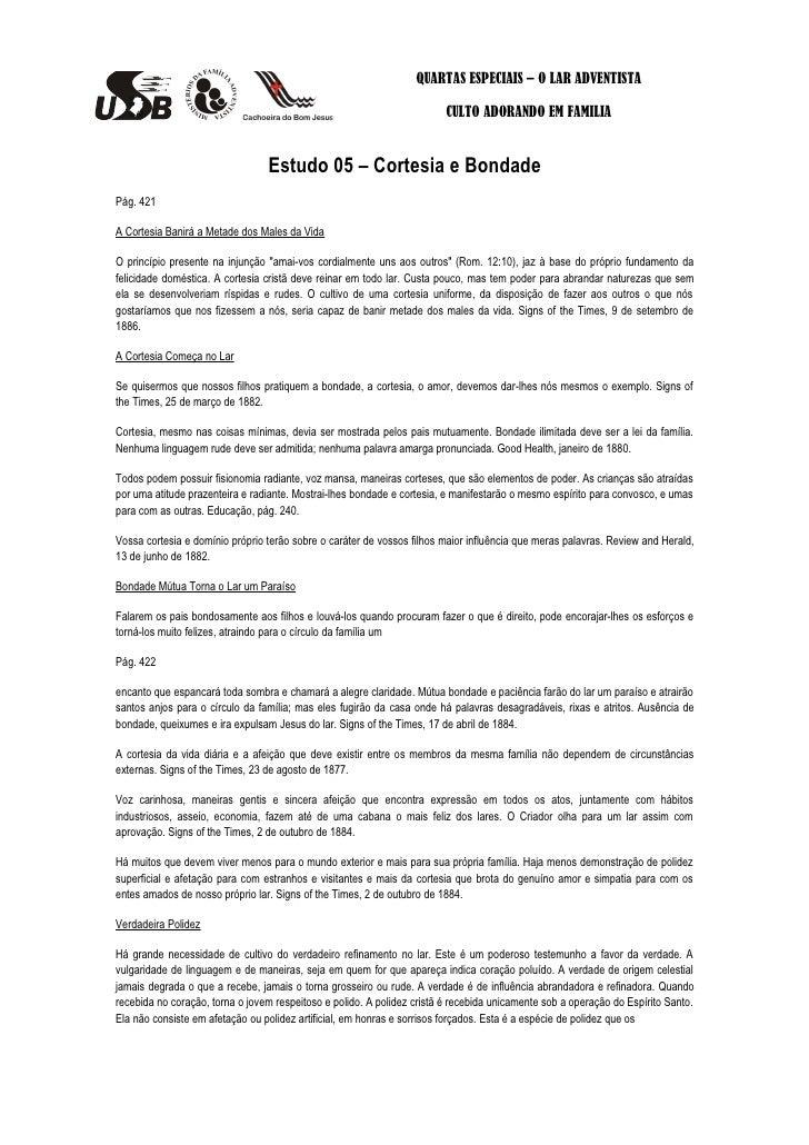 QUARTAS ESPECIAIS – O LAR ADVENTISTA                                                                         CULTO ADORAND...