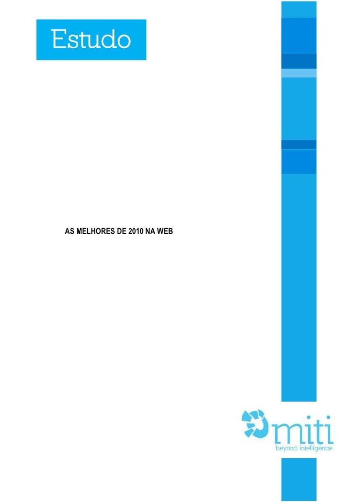 Estudo: As melhores de 2010 na web