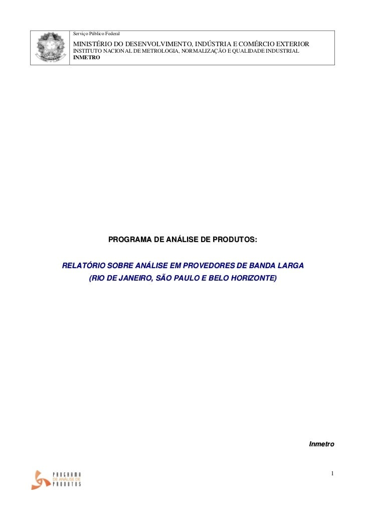 Serviço Público Federal  MINISTÉRIO DO DESENVOLVIMENTO, INDÚSTRIA E COMÉRCIO EXTERIOR  INSTITUTO NACIONAL DE METROLOGIA, N...