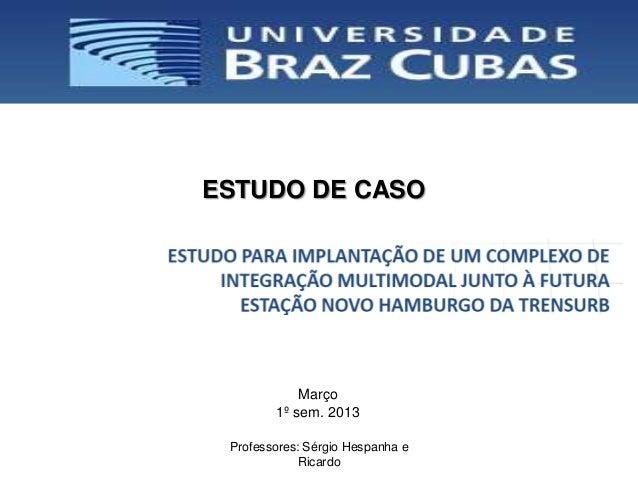 ESTUDO DE CASO            Março        1º sem. 2013 Professores: Sérgio Hespanha e            Ricardo
