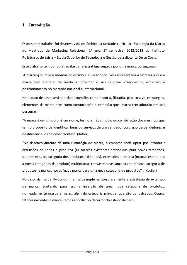 ESTRATEGIA DA MARCA - Estudo de caso marca fly london_ deise costa Slide 3