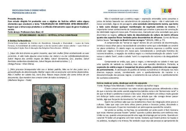 SOCIOLOGIA PARA O ENSINO MÉDIO PROFESSORA SARA ALVES SECRETARIA DE EDUACAÇÃO DO ESTADO EEEM PROFESSOR FERNANDO DUARTE RABE...
