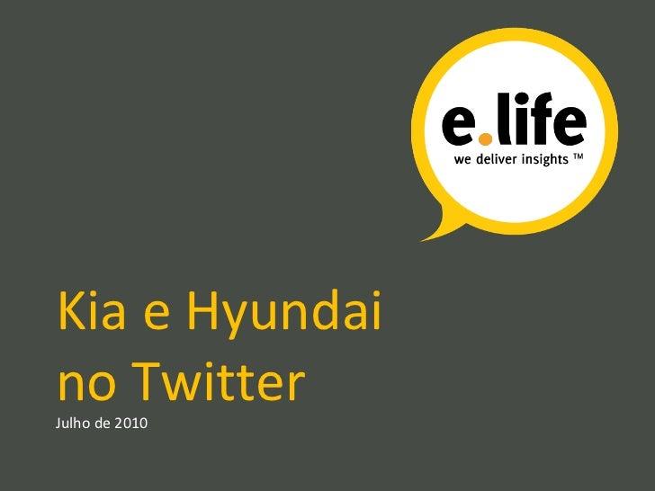 Kia e Hyundai no Twitter Julho de 2010