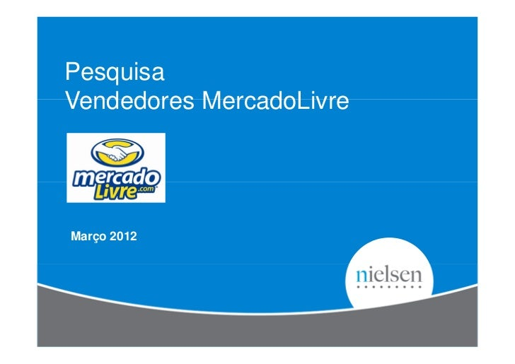 PesquisaVendedores MercadoLivreMarço 2012