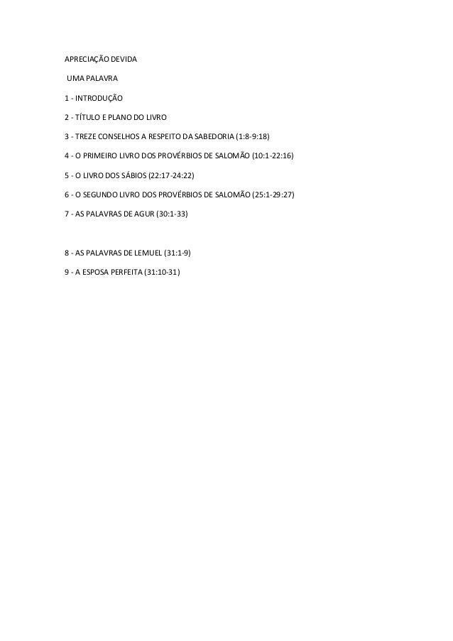 Estudo no livro de provérbios   antônio neves de mesquita Slide 2