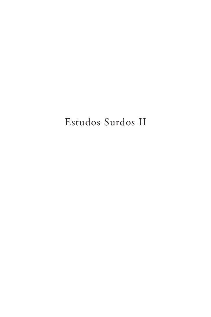 Estudos Surdos II