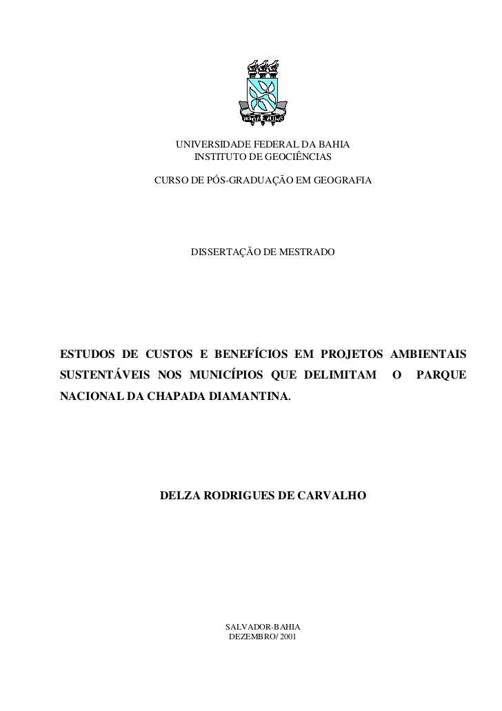 UNIVERSIDADE FEDERAL DA BAHIA                  INSTITUTO DE GEOCIÊNCIAS            CURSO DE PÓS-GRADUAÇÃO EM GEOGRAFIA    ...