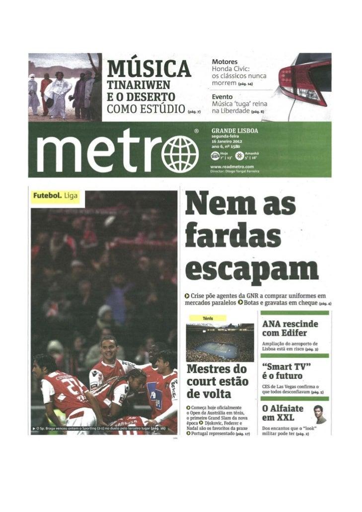 Sugestão do Jornal Metro